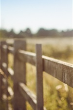 Preview iPhone wallpaper Summer, fence, blurry