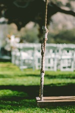 Preview iPhone wallpaper Swing, grass, garden