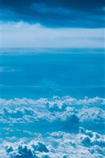 iPhone обои Толстые облака, небо, вид сверху