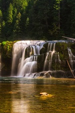 Preview iPhone wallpaper USA, Washington, waterfall, water, trees, forest