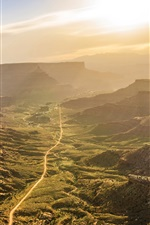 Preview iPhone wallpaper Valley, road, sunrise, morning, Canyonlands National Park, USA