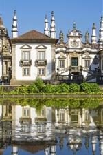 Villa, mansion, trees, pond, Portugal