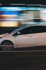 미리보기 iPhone 배경 화면 흰색 자동차 속도, 측면보기