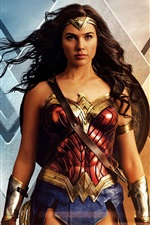 Preview iPhone wallpaper Wonder Woman, 2017 movie HD