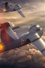 Preview iPhone wallpaper World of Warplanes, aircraft