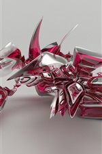 Preview iPhone wallpaper Abstract bird, 3D design