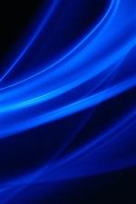 Linhas azuis, imagem abstrata