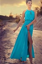 Blue skirt fashion girl dance