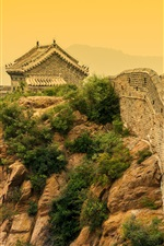 Preview iPhone wallpaper Chinese landscape, Great Wall, dusk