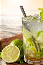 Preview iPhone wallpaper Cocktail, mojito, limes