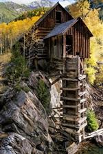 Colorado, Crystal Mill, United States, trees, stream, autumn