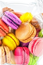 Preview iPhone wallpaper Colorful cookies, macaron, almond, dessert