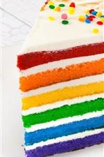 Colorful layered cake, dessert