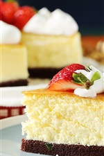 Preview iPhone wallpaper Dessert, cake, strawberry, cream
