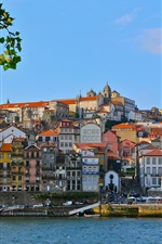 Preview iPhone wallpaper Douro River, Portugal, port, houses