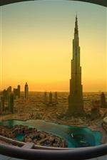 Preview iPhone wallpaper Dubai, Khalifa Tower, skyscrapers, morning