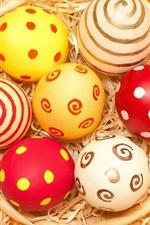 Easter eggs, straw
