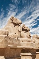 Preview iPhone wallpaper Egypt, sculptures, desert