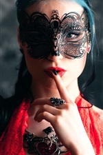 Fashion girl, makeup, mask