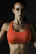 Preview iPhone wallpaper Fitness women, workout, metal chain