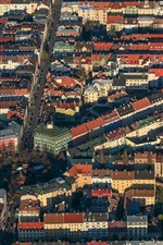 Preview iPhone wallpaper Germany, Munich, Bayern, city, top view