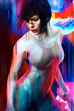 Preview iPhone wallpaper Ghost in the Shell, Scarlett Johansson, 2017 movie