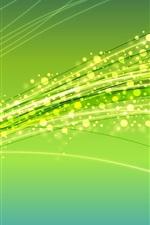 미리보기 iPhone 배경 화면 반짝이 서클, 라인, 추상, 녹색 배경