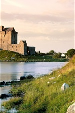 Preview iPhone wallpaper Lake, grass, Dunguaire Castle, Ireland