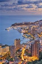 Preview iPhone wallpaper Ligurian sea, Monaco, city, skyscrapers