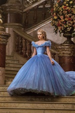 Preview iPhone wallpaper Lily James, Cinderella