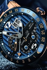 Preview iPhone wallpaper Luxury watch, Ulysse Nardin, arrow, time