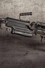 Preview iPhone wallpaper M249 SAW machine gun, weapon