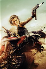 Preview iPhone wallpaper Milla Jovovich, Resident Evil