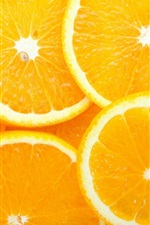Preview iPhone wallpaper Orange slices, delicious fruit