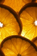Preview iPhone wallpaper Oranges sliced, backlight