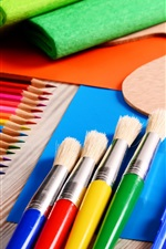 Preview iPhone wallpaper Painting tools, pencils, brush, colorful