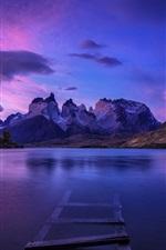 Preview iPhone wallpaper Patagonia, lake, mountains