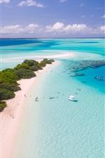 미리보기 iPhone 배경 화면 바다, 보트, 해변, 섬, 열 대 지방, 몰디브