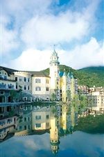 Preview iPhone wallpaper Shenzhen OCT East, hotel, lake