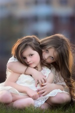 Preview iPhone wallpaper Sisters, lovely child, little girls