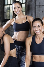 Preview iPhone wallpaper Smile girls, sportswear, sports