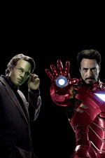 Preview iPhone wallpaper The Avengers, superheroes, black background