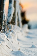 Preview iPhone wallpaper Thick snow, winter, fence