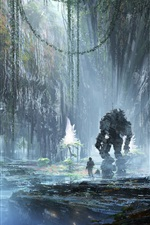 Preview iPhone wallpaper Titanfall 2, art picture, games