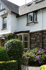 Preview iPhone wallpaper UK, villa, garden, flowers, bushes