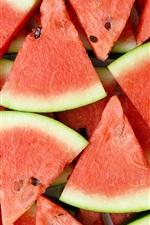 Preview iPhone wallpaper Watermelon slice, summer juicy fruit
