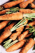 Preview iPhone wallpaper A bag of carrots, vegetables, harvest