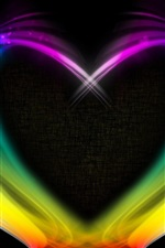 Preview iPhone wallpaper Abstract love heart, colorful smoke, creative