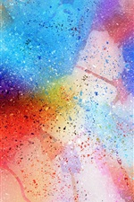 Preview iPhone wallpaper Abstract watercolor background, spots, rainbow colors