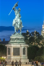 Preview iPhone wallpaper Austria, Hofburg, Vienna, monument, people, night